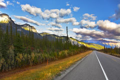 The American road. Northern landscape Stock Photos