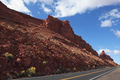 The American road between rocks Royalty Free Stock Image