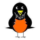 American Robin. Cartoon clipart with its wings against cheeks Royalty Free Illustration