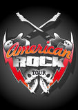 American rock tour with skulls under a spot light Royalty Free Stock Image
