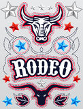 American Rodeo poster - card template - Vector set Royalty Free Stock Photos