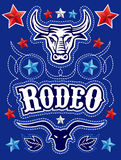 American Rodeo poster - card template Royalty Free Stock Photo