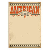 American rodeo poster for text on old paper texture Stock Images