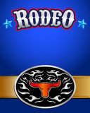 American Rodeo poster - western belt buckle Stock Images