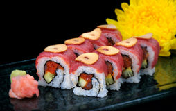 American roll Maguro roll Royalty Free Stock Photography