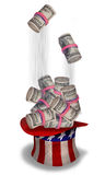American Rolls of Cash. Royalty Free Stock Photos