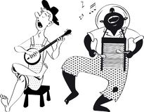 Hillbilly music group vector illustration