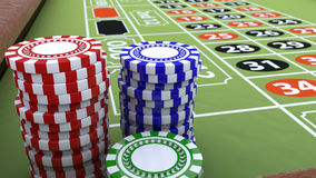 American Roulette and betting Royalty Free Stock Photos