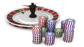 American Roulette and betting. 3d render. American Roulette and betting stock image