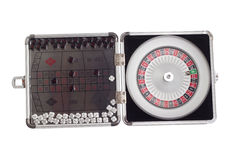 American Roulette table game sealed board clipping Stock Photos