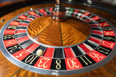 American Roulette wheel with a ball Royalty Free Stock Images