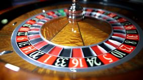 American Roulette wheel. Common view. stock footage