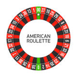 American roulette wheel Royalty Free Stock Photography