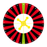 American roulette on white background Royalty Free Stock Image