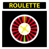 American roulette on white background Stock Photo