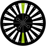 American roulette on white background. Vector illustration Stock Photos