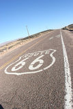 American Route 66. Shot of route 66 taken in the desert Royalty Free Stock Photos