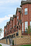 American row houses. Neighborhood homes in the United States Stock Photos