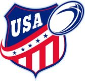 American rugby ball shield usa Royalty Free Stock Photography