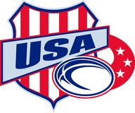 American rugby ball shield usa Stock Photo