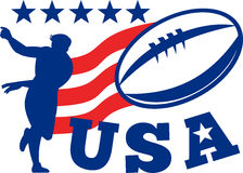 American rugby player USA Ball Royalty Free Stock Photos