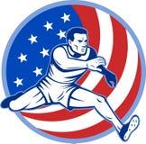 American runner sprinter Stock Images