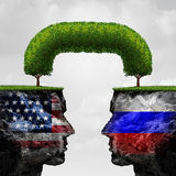 American Russian Cooperation Royalty Free Stock Image