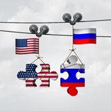 American And Russian Cooperation Royalty Free Stock Photos