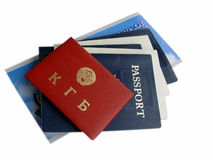 American & Russian Documents isolated. American and Russian Documents isolated stock photos