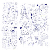 American, Russian and French Symbols Royalty Free Stock Photography