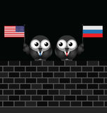 American Russian Leaders Royalty Free Stock Photography