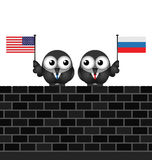 American Russian Leaders Royalty Free Stock Images