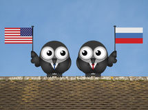 American Russian Leaders Royalty Free Stock Photo