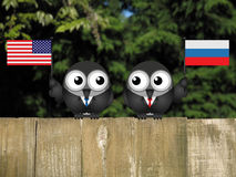 American Russian Leaders Stock Photography