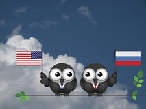 American Russian Leaders Royalty Free Stock Image