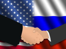 American Russian meeting Royalty Free Stock Images