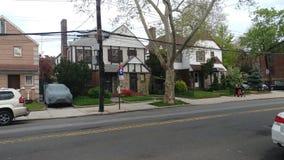 American& x27; s droomhuis met binnenplaats in Brooklyn NYC stock fotografie