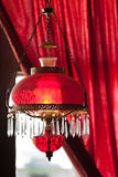 American saloon interior. Historic Western saloon interior with red lantern in tourstic town, USA Royalty Free Stock Photos