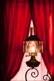 American saloon interior. Historic Western saloon interior with red lantern in tourstic town, USA Royalty Free Stock Image