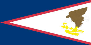 American Samoa flag Stock Photo
