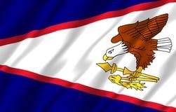 American Samoa realistisk flaggaillustration royaltyfri illustrationer