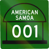 American Samoa Territorial Highway Stock Photo