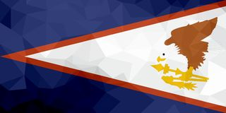 American Samoa polygonal flag. Mosaic modern background. Geometric design stock illustration