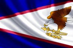 American samoa flag illustration stock illustration