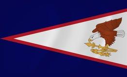 American Samoa waving flag. Vector image of the American Samoa waving flag Stock Photos