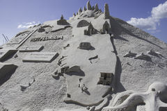 2015 American Sand Sculpting Championships Royalty Free Stock Images