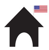 American school. An icon of an american school Stock Photography