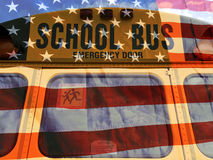 American school bus Stock Images