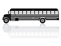 American School Bus Silhouette Vector Icon Royalty Free Stock Photo