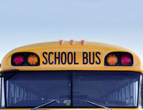 American school bus w Stock Photography